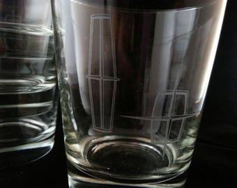 Lincoln motors drink glasses
