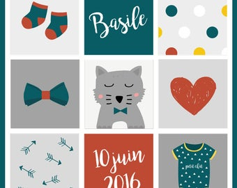 Customizable baby model Basil poster