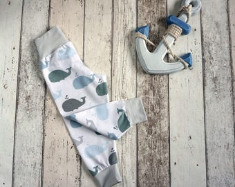 Organic Whale Childrens Leggings - Organic Baby Clothes / Toddler Clothes / Trousers / Leggings