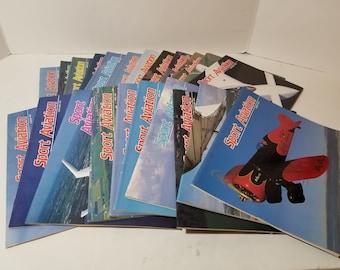 Vintage Sport Aviation Magazine Lot of  70 Magazines. 1980s 1990s