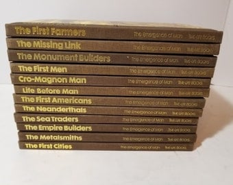 Vintage Time Life Books The Emergence of Man Set of 12 Homeschool Instant Library