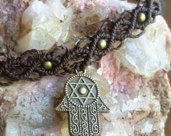 macrame anklet, bracelet or upperarmjewelry