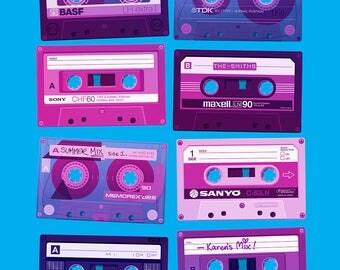 Dead Formats Cassettes (CMYK Edition) Print