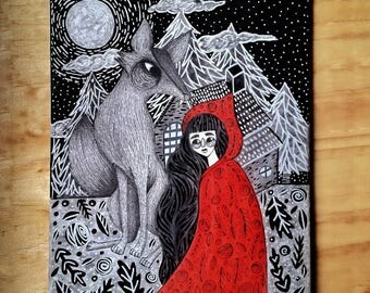 Little Red Riding Hood / / Canvas