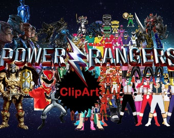 70+.. Power Rangers ClipArt PNG - Digital, image, picture,  oil painting, drawing,llustration, art , birthday,handicraft 300 DPI, 300 PPI