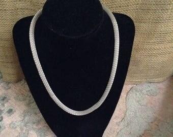 Silver Circular Mesh Chain