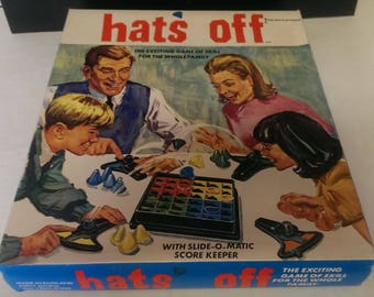 Hats Off Vintage Board Game 1960's edition