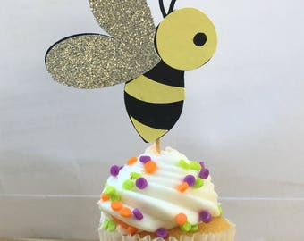 What Will It Be Cake Topper | Cupcake Topper | Bee Toppers | Honey Bee | Bees Knees | Baby Shower Decor | Gender Reveal Toppers