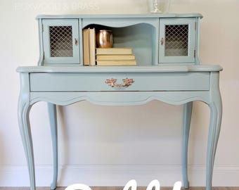 sold persian blue french provincial desk