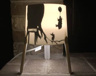 Winnie the Pooh and Christopher Robin Too Silloutte Lamp