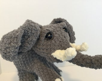 Crocheted elephant, plush animal