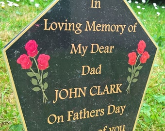 Fathers Day Memorial, Gift, Garden Remembrance, Celebration