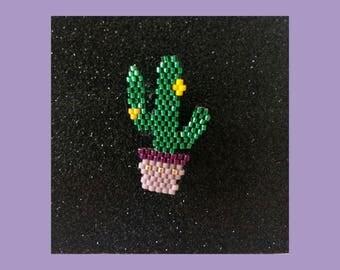 Broche miyuki cactus