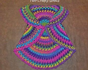 Child's Boho Circle Vest - Crochet, Toddler, T2-4