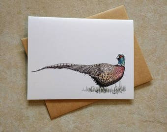 Pheasant American Woodland Greeting Card/Note Card