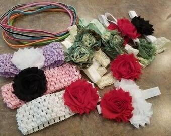 Crafting Supplies; headbands (newborn & infants)