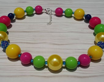 Chunky colorful necklace