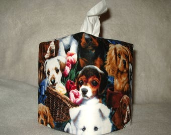 Tissue Box Cover - Dogs