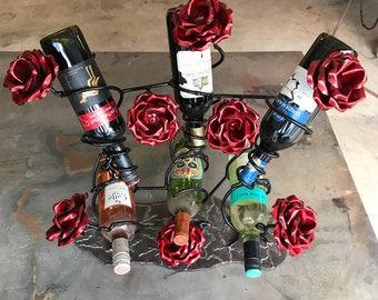 6 Bottle Rose Wine Rack