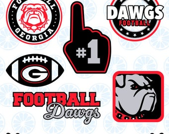Georgia Dawgs SVG, Georgia Bulldogs Monogram, Football Dawgs SVG, Georgia Football DXF, Georgia Bulldogs 21