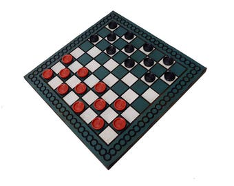 """Checker Boards, Custom Checker Boards, Handcrafted Checker Boards, 12"""" x 12"""" Checker Boards, Family Games, Nostalgic Games"""