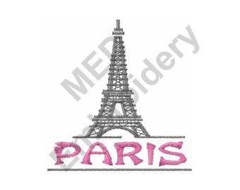 Paris Eiffel Tower - Machine Embroidery Design