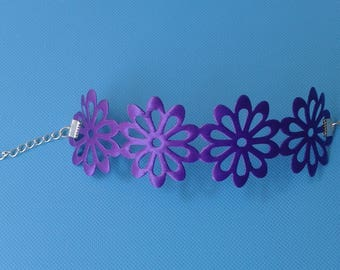 pretty and lightweight this fancy flower 40mm electric Purple Ribbon bracelet