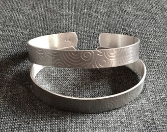Circle Patterned Light Sterling Silver Cuff