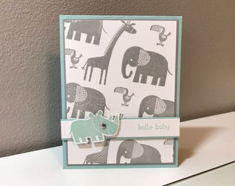 Baby, Zoo Handmade Stampin' Up! Card