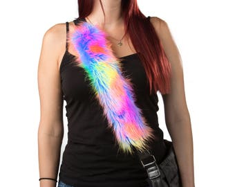 Unicorn fur seatbelt cover shoulder pad