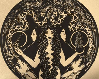 Hecate limited edition screen print