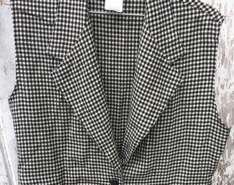 Vintage Gingham Vest