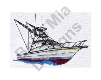 Fishing Boat - Machine Embroidery Design