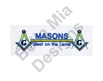 Freemasonry - Machine Embroidery Design