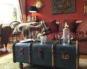 Annie Sloan painted vintage steamer trunk by FoxyLadyFurniture.