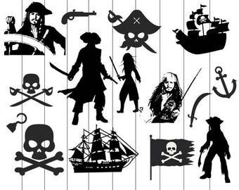 Pirates of the Caribbean Clipart svg, Digital download, Jack Sparrow svg, pirates cliparts, clipart piates, disney pirates eps, pirates svg