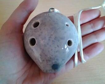 6 Hole Pendant Ceramic Ocarina Soprano D | Wind Musical Flute Instrument