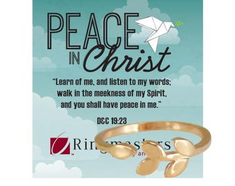 Peace In Christ Olive Branch Adjustable Ring for 2018 LDS Mutual Theme