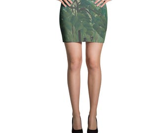 Henri Rousseau, The Waterfall - Mini Skirt