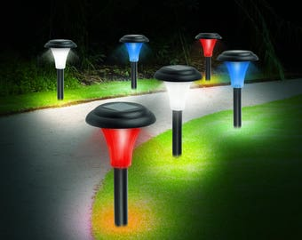 Solar-Powered LED accent light - set of 8