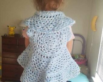Girl's - Child's Sweater - Ring Around the Rosie vest