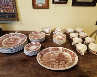 48 piece set of Fair Winds china