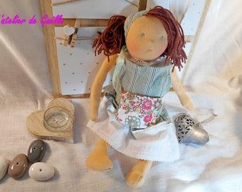 Doll Waldorf 38 cm, natural, cloth doll