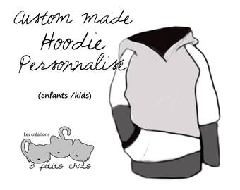 Grow with me custom hoodie / adjustable sweatshirt /3m-12m /9m-3T /3T-6T