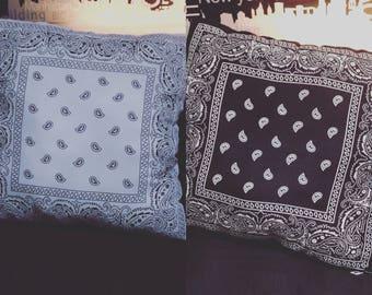 2 Colour Paisley Pillow