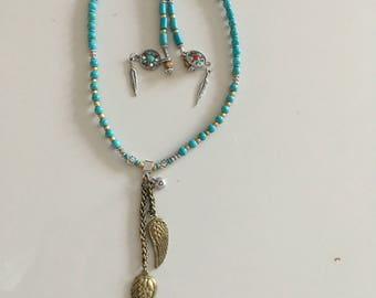 Clara short turquoise necklace