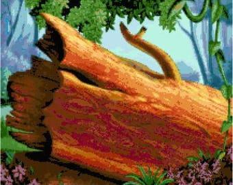 Fallen Tree Cross Stitch Chart