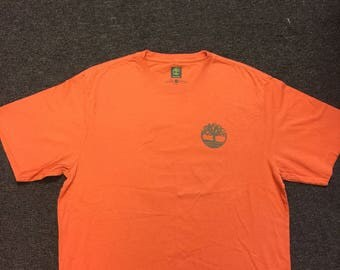 Brand new with stickers timberland t shirt orange size L