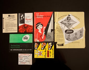 Set of instructions and guarantee from the 1960s