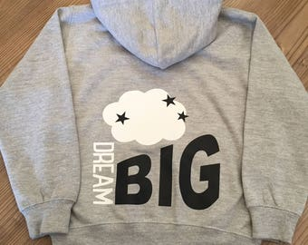 Toddler/Childs/Kids Dream Big Zipped Hoodie